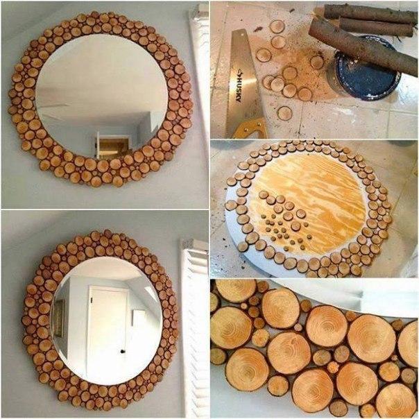 Идея для декора зеркала своими руками 21