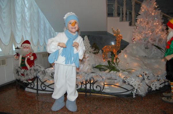 Сшить костюм снеговика видео