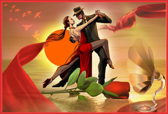 Открытка танцев