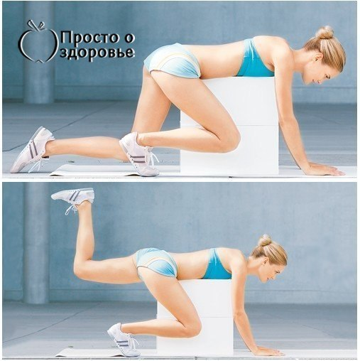 Упражнение от целлюлита с картинками